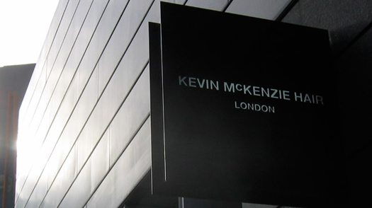 Kevin McKenzie Hair sign, by Hark Design