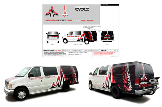Mountain Cycle vehicle graphics, by Hark Design