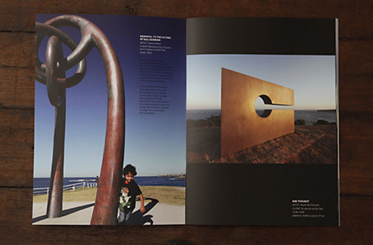 Artscape International project highlight booklet, by Hark Design