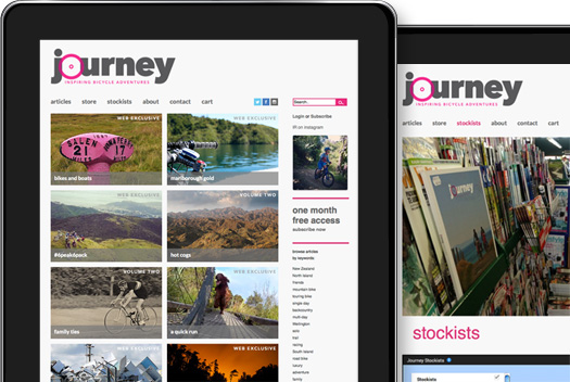 Journey Magazine Website Build